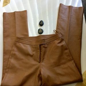 Margaret Godfrey Pants - Margaret Godfrey Tan Leather Lined Pants Size 8